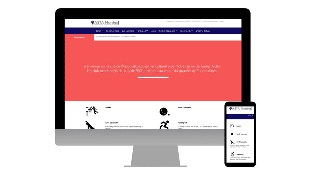 Site internet de l'ASTA Nantes