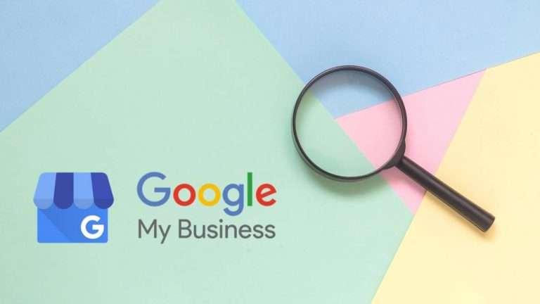 Loupe avec le logo Google My Business