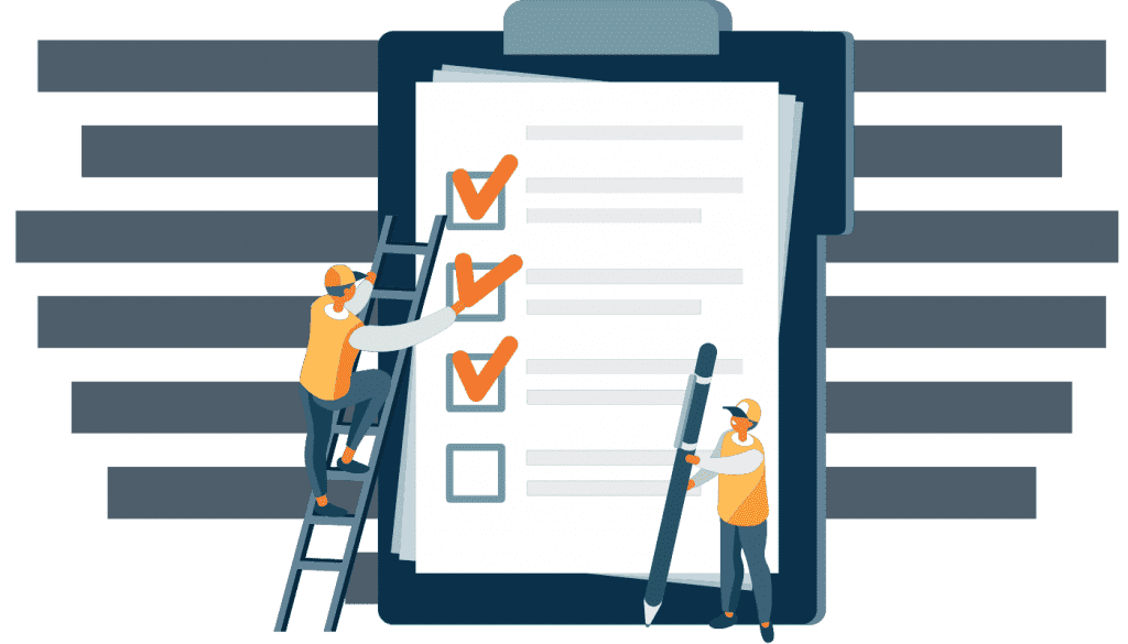 Bloc notes avec un checklist