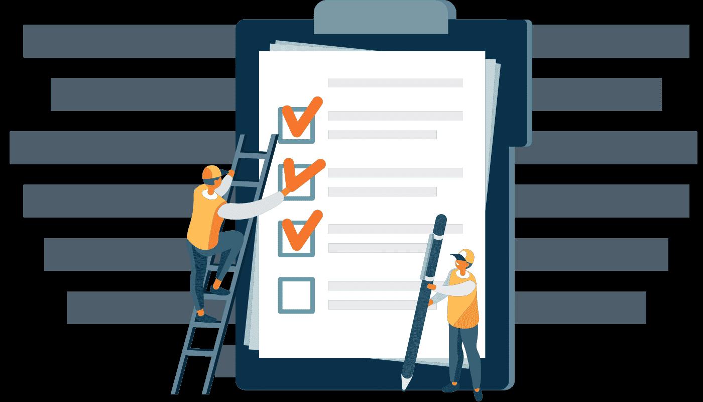 Bloc notes avec un checklist